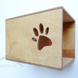 Domek dla kota KUBIK 40×26 z kocią łapką