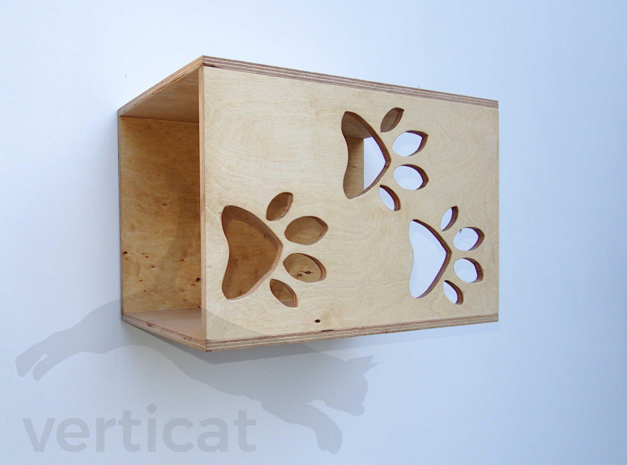 Domek dla kota KUBIK 40×26 z trzema łapkami