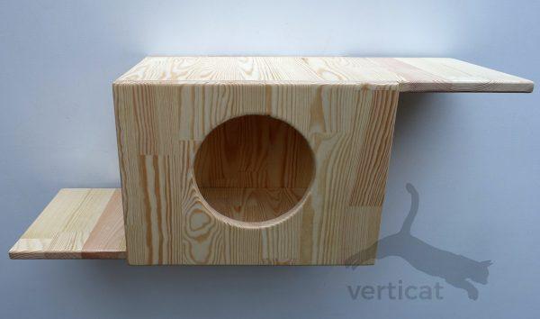 Domek dla kota z dwoma tarasami